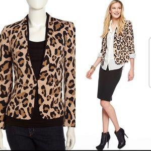 Isaac Mizrahi animal print blazer size 12